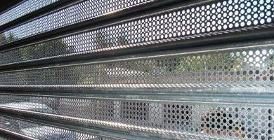 persianas galvanizadas microperforadas