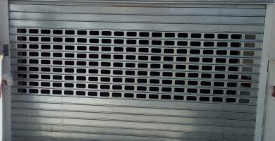 persianas galvanizadas troqueladas